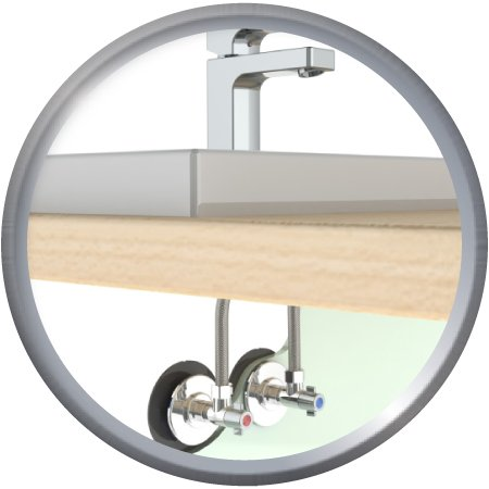 Pack FIXOPLAC ss Lavabo MC + robinet