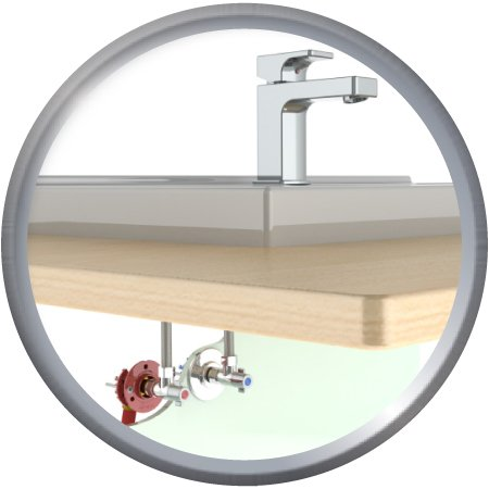 Kit de raccordement évier ou lavabo, raccords à sertir pour PER