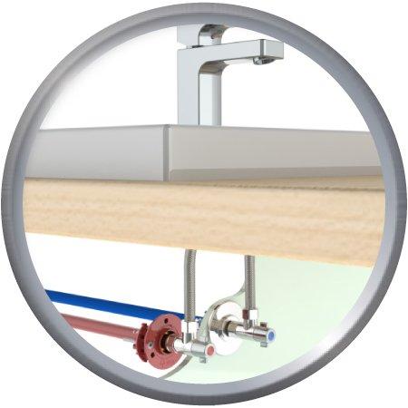 FIXOPLAC lavabo Droit compression PER10/12-M12/17