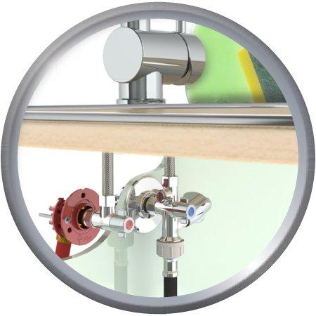 Kit Fixoplac Evier + Robinet compression D12