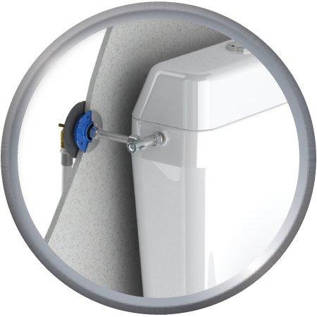 Kit de fixation robinetterie WC Multicouche + robinet d'arrêt