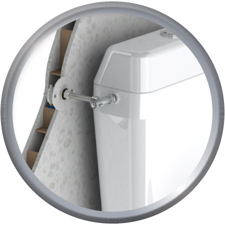 Kit de raccordement robinetterie WC pour plâques alvéolaires