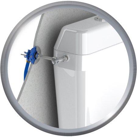 Kit de raccordement robinetterie pour WC, raccords à compression pour tubes PER + Robinet d'arrêt