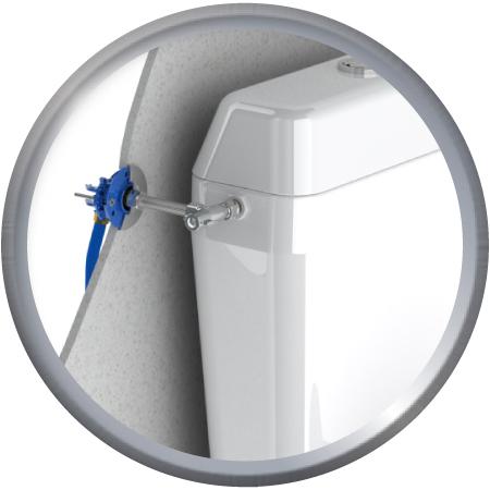 Raccordement WC à sertir PER
