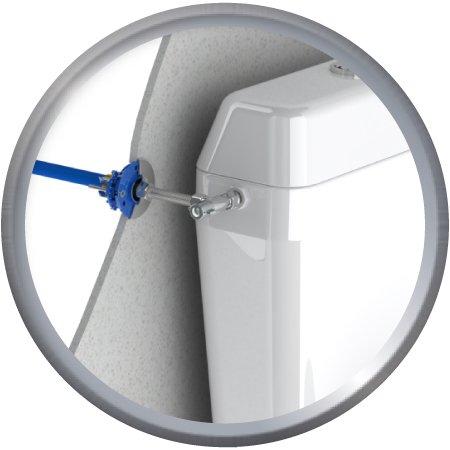 Kit de fixation robinnetterie WC, raccords droits à glissement PER